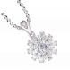 Mặt dây chuyền PNJ vàng trắng 10K đính đá Swarovski 97497.100