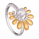 Nhẫn PNJ Sunflower vàng 10K đính đá Suncut Swarovski 97431.100