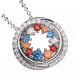 Mặt dây chuyền bạc PNJSilver Fantasia mix đá màu 92790.406