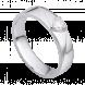 Nhẫn cưới Kim cương nam PNJ Chung Đôi Vàng trắng 14K 77098.5A0