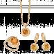 Bộ trang sức PNJ Vàng 18K đính đá Citrine
