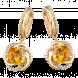 Bông tai PNJ Vàng 18K đính đá Citrine 58215.603