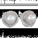 Bông tai PNJ ngọc biển vàng trắng 14K đính ngọc trai Akoya 75803.600