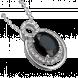 Mặt dây chuyền Vàng trắng 14K đính đá Sapphire PNJ 00082