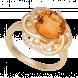Nhẫn PNJ Vàng 18K đính đá Citrine 58214.601