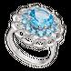 Nhẫn PNJ Vàng trắng 14K đính đá Topaz 78303.600