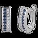 Bông tai Vàng trắng 14K đính đá Sapphire PNJ SPXMW000051