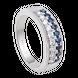 Nhẫn Vàng trắng 14K đính đá Sapphire PNJ SPXMW000227