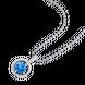 Mặt dây chuyền bạc đính đá màu xanh PNJSilver