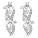 Bông tai kim cương Vàng trắng 14K PNJ DDDDW001341
