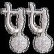 Bông tai Vàng trắng Ý 18K đính đá CZ PNJ XMXMW000458