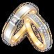Nhẫn cưới Kim cương Vàng 18K PNJ True Love 19 00476-00552