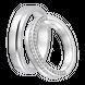 Nhẫn cưới Kim cương Vàng trắng 14K PNJ True Love 19 03707-00506