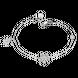 Lắc tay Vàng trắng 10K đính đá ECZ Swarovski PNJ Frozen XMXMW000166