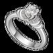 Nhẫn kim cương Vàng trắng 14K PNJ Cinderella DDDDW003803