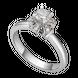 Nhẫn kim cương Vàng trắng 14K PNJ Cinderella DDDDW003805