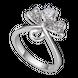 Nhẫn Vàng trắng 10K đính đá ECZ Swarovski PNJ Snow White & The Seven Dwarfs XMXMW001171