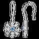 Bông tai bạc đính đá PNJSilver Frozen ZTXMW000003