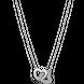 Dây cổ bạc đính đá PNJSilver hình tim đôi 00XMW060001