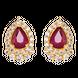 Bông tai Vàng 18K đính đá Ruby PNJ Sắc Xuân RBXMY000260