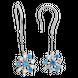 Bông tai Vàng trắng 10K đính đá Synthetic PNJ Frozen ZTXMW000074