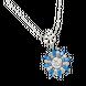Dây cổ Vàng trắng 10K đính đá Synthetic PNJ Frozen ZTXMW000038