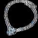Dây cổ Vàng trắng 10K đính đá Synthetic PNJ Frozen ZTXMW000041