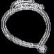 Dây cổ Vàng trắng 10K đính đá Synthetic PNJ Frozen ZTXMW000047