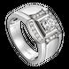 Nhẫn nam kim cương Vàng trắng 14K PNJ DDDDW003826