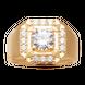 Nhẫn nam Vàng 18K đính đá ECZ Swarovski PNJ XMXMY001802