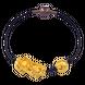 Lắc tay Vàng 24K PNJ tỳ hưu hoa sen dây màu đen 0000Y001174
