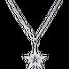 Dây cổ bạc đính đá PNJSilver Aura XMXMW000012