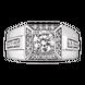 Nhẫn nam bạc đính đá PNJSilver XMXMK000172