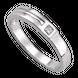 Nhẫn cưới nam Kim cương Vàng trắng 14K PNJ Chung đôi DD00W000366