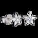 Bông tai bạc đính đá PNJSilver hình ngôi sao XM00K000102