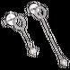 Bông tai Vàng trắng 10K đính đá ECZ Swarovski PNJ XMXMW000459