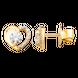 Bông tai Vàng 18K đính đá CZ PNJ XMXMY000072