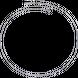 Dây chuyền Vàng trắng Ý 18K PNJ dây đan kiểu chữ cong 0000W000248