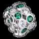 Hạt Charm Me Vàng trắng Ý 18K đính đá màu xanh lá PNJ XMZTW000005