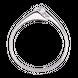 Nhẫn Vàng trắng 10K đính đá ECZ Swarovski PNJ XM00W000056