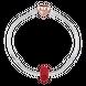 Hạt charm xỏ DIY PNJSilver hình tròn màu đỏ 1D1DK060008