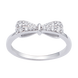 Nhẫn bạc đính đá PNJSilver hình nơ XMXMK000083