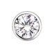 Bông tai nam bạc đính đá PNJSilver XM00K000107