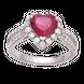 Nhẫn Vàng trắng 10K PNJ Melody ZTXMW000021