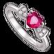 Nhẫn Vàng trắng 14K đính đá Ruby Disney|PNJ Snow White & the Seven Dwarfs RBXMW000171