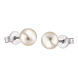 Bông tai bạc đính ngọc trai 6 ly PNJSilver PF00K000011