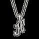 Mặt dây chuyền bạc chữ H PNJSilver đính đá