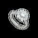 Nhẫn Vàng trắng 10K đính đá ECZ Swarovski PNJ XMXMW001732