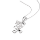 Mặt dây chuyền Vàng trắng 10K đính đá ECZ Swarovski PNJStyle XMXMW001444