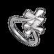 Nhẫn Vàng trắng 10K đính đá ECZ Swarovski PNJSTYLE DNA XMXMW001794